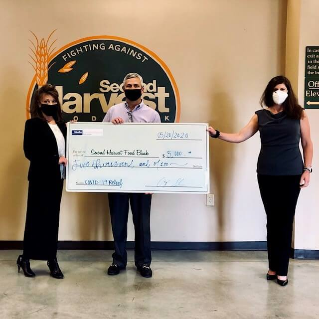 Shafer Insurance presents grant to Second Harvest Food Bank